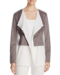 Bagatelle Layered Look Faux Suede Jacket Cool Grey