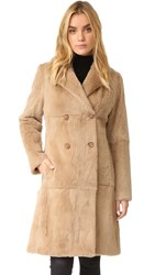 June Fur Trench Coat Camel