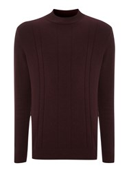 Peter Werth Wilheim Turtle Neck Jumper Burgundy Marl