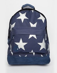 Mi Pac Xl Stars Backpack In Navy Navy Silver