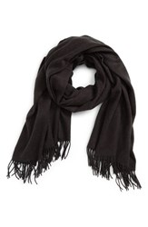 David And Young Women's Fringe Solid Scarf