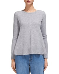 Whistles Boiled Wool Crewneck Sweater Gray Marl