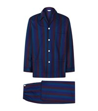 Derek Rose Arctic Wide Striped Pyjama Set Male Blue