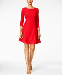 Jessica Howard Glitter A Line Dress Red