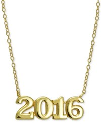 Giani Bernini 2016 Graduation Pendant Necklace In 24K Gold Plated Sterling Silver And 24K Gold Plated Rose Gold Yellow Gold