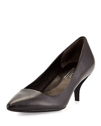 Kenneth Cole New York Pearl Leather Low Heel Pump Black
