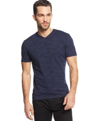 Vince Camuto Marled V Neck T Shirt Midnight Navy
