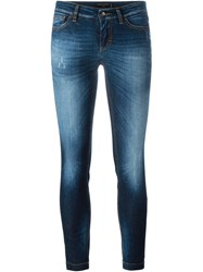 Dolce And Gabbana Skinny Cropped Jeans Blue