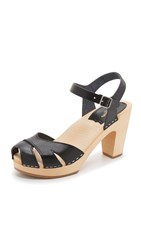 Swedish Hasbeens Suzanne Sandals Black Nature