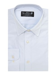 New And Lingwood Fine Twill Formal Shirt Blue