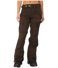 686 Authentic Smarty Cargo Pant Coffee Diamond Dobby Women's Outerwear Brown