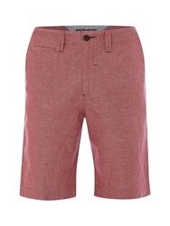 White Stuff Warren Linen Chino Short Red