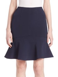 Yigal Azrouel Fit And Flare Skirt Midnight