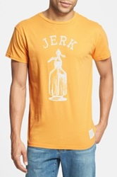 Original Retro Brand 'Soda Jerk' Slim Fit T Shirt Metallic