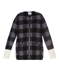 Etoile Isabel Marant Gelicia Checked Wool Blend Coat