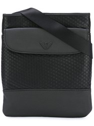 Armani Jeans Textured Messenger Bag Black
