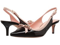 Kate Spade Palina Black Patent Pale Pink Nappa Women's Shoes