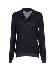 Hamaki Ho Knitwear Jumpers Men Dark Blue