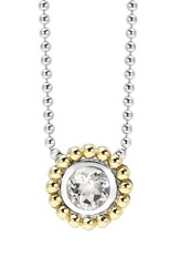 Women's Lagos Stone Pendant Necklace White Topaz