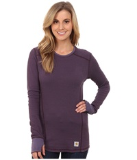 Carhartt Base Force Cold Weather Crew Neck Top Plum Women's Long Sleeve Pullover Purple