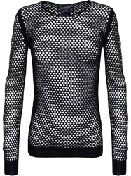 Ann Demeulemeester Fishnet Top Black