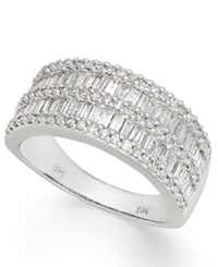 Effy Collection Classique By Effy Diamond Band 1 1 10 Ct. T.W. In 14K White Gold
