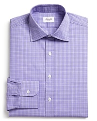 Hamilton Glen Plaid Dress Shirt Classic Fit Bloomingdale's Exclusive Purple