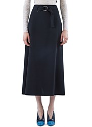 Preen Sanet Long Wrap Over Skirt Black