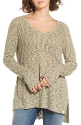 Rip Curl Women's Prophesy Knit High Low Pullover Army Green