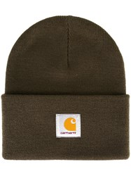 Carhartt Logo Patch Beanie Hat Green