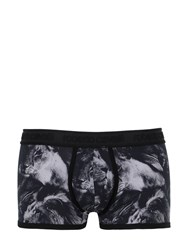 Roberto Cavalli Lion Printed Cotton Jersey Boxer Briefs