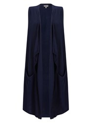 Phase Eight Stansie Waterfall Waistcoat Navy
