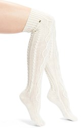 Women's Ugg Australia 'Classic' Cable Knit Over The Knee Socks Beige Cream