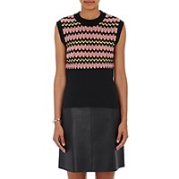Marni Women's Crochet Sweatervest Black Blue Black Blue
