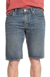 Men's Quiksilver 'Sequel' Denim Shorts Vintage Cracked Blue