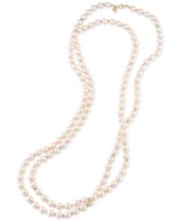 Carolee Gold Tone Pink Imitation Pearl Rope Necklace