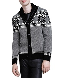 The Kooples Fancy Jacquard Cardigan