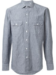 Salvatore Piccolo Patch Pocket Shirt Blue