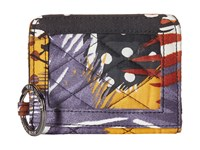 Vera Bradley Campus Double Id Painted Feathers Credit Card Wallet Multi