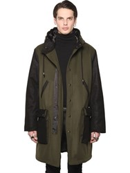 All Apologies Hooded Two Tone Wool Coat