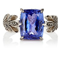 Cathy Waterman Women's Tanzanite Leafside Ring No Color