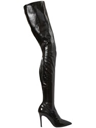 Strategia 90Mm Faux Patent Over The Knee Boots