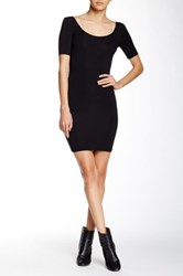 American Apparel Short Sleeve Mini Dress Black