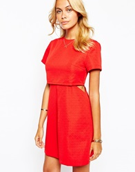 Fashion Union Layered Aline Dress With Pleate Front