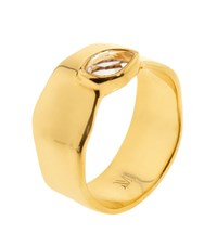 Monica Vinader Siren Wide Band Topaz Ring Female White