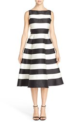 Women's Adrianna Papell Stripe Mikado Fit And Flare Dress
