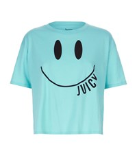 Juicy Couture Smiley Terry T Shirt Female Blue