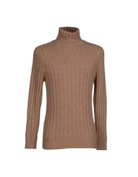 Gray Knitwear Turtlenecks Men Dark Blue