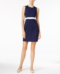Maison Jules Belted Sheath Dress Only At Macy's Blu Notte