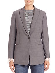 Brunello Cucinelli Lace Detail Wool Blazer Charcoal